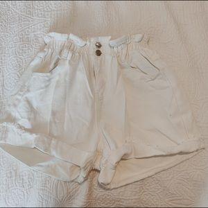 Princess Polly white paper bag shorts